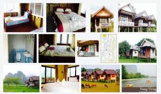 Laos, Vang Vieng, Hotel, Banana Bungalows