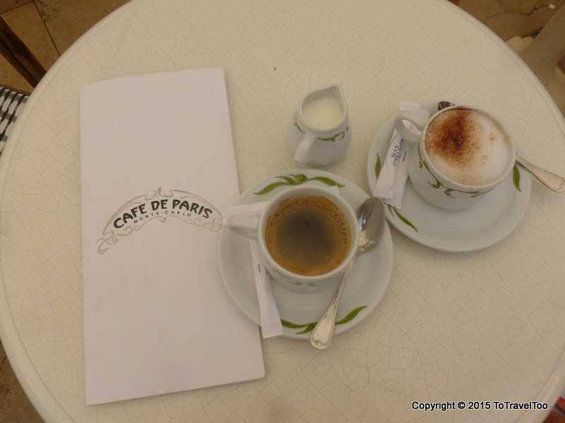 Coffee in Monaco, Monte Carlo