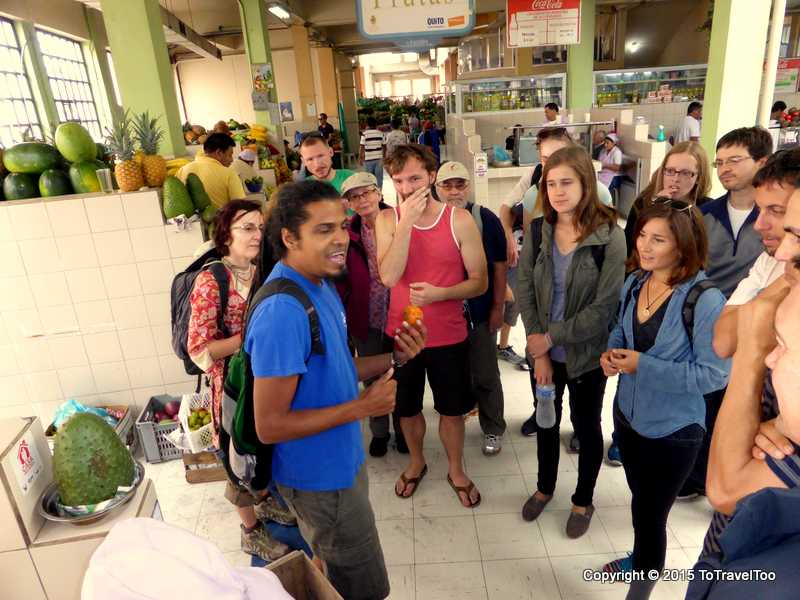 Ovi, our guide at our first stop the Central Market in Quito