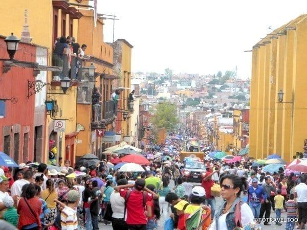Start of the Locos Parade San Miguel de Allende, Mexico