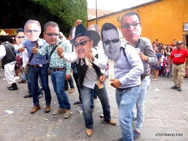 Who is this at the Locos Parade San Miguel de Allende