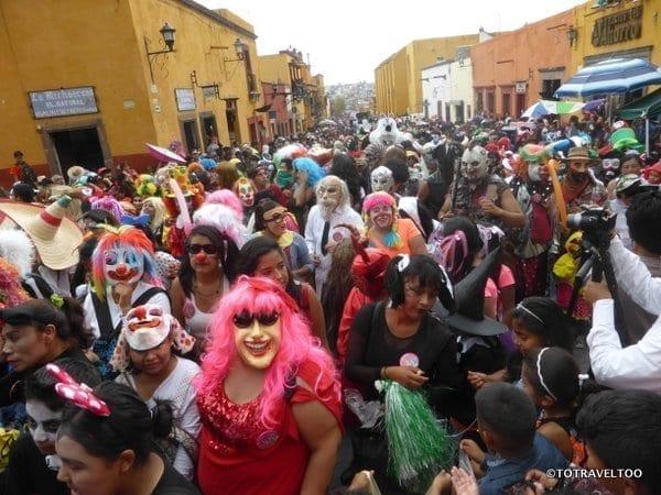 The Crowds at Locos Parade San Miguel de Allende