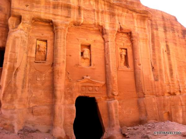 The external view of the Tomb of the Roman Soldier in Petra