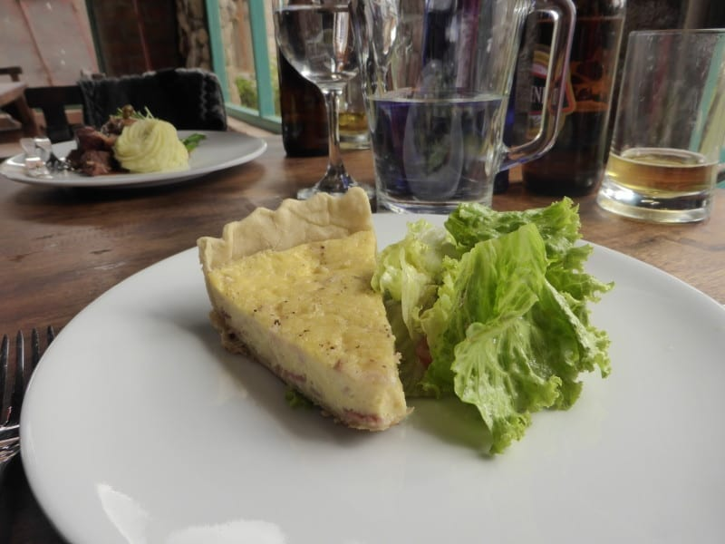 Vegetarian Main - French Quiche at Le Petit Jardin