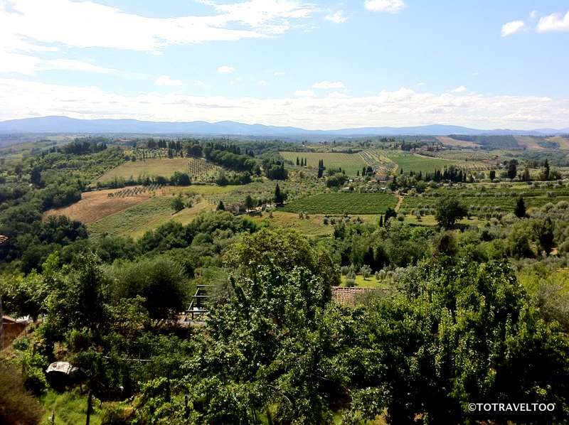 The Tuscan Countryside around San Gimignano