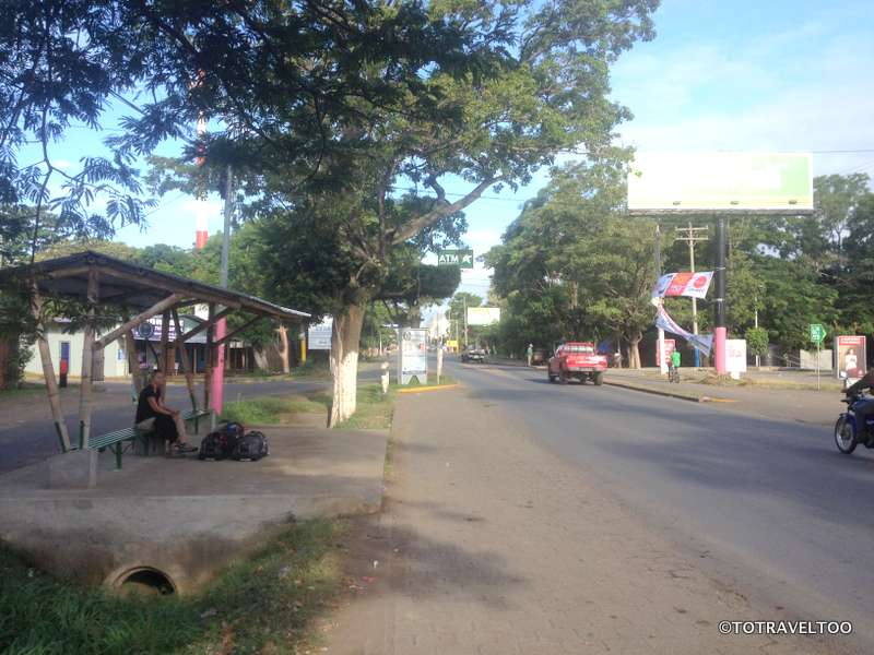 The Bus Shelter in Rivas Opposite Maxi Pali Supermarket in Nicaragua