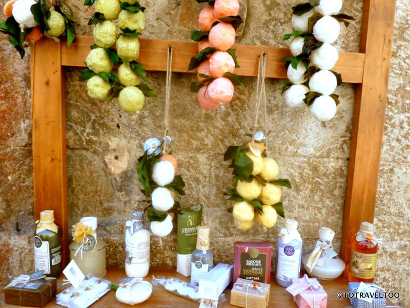 Lemon and Lavender Shops in San Gimignano