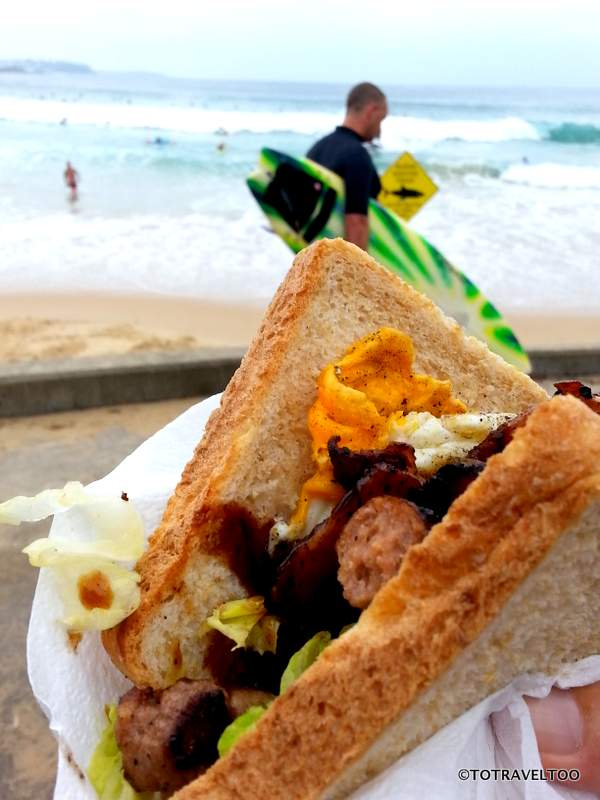 Sandwich with the lot - supporting the local surf life saving associations around Manly