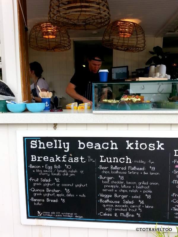 Enjoy a coffee from the Shelly Beach Kiosk near Manly
