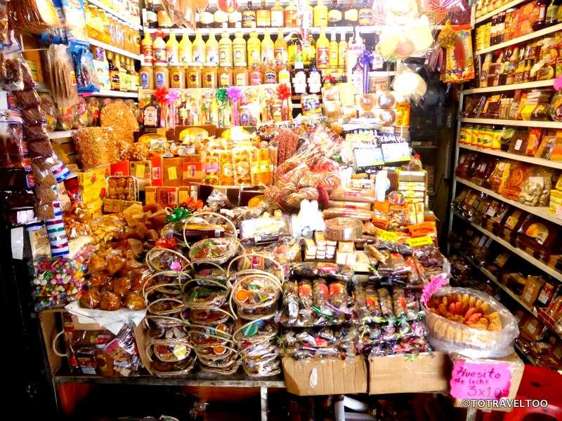 Inside the market of Morelia