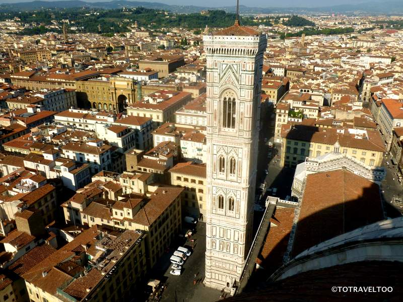 Giotto's Bell Tower from the Roof of the Duomo