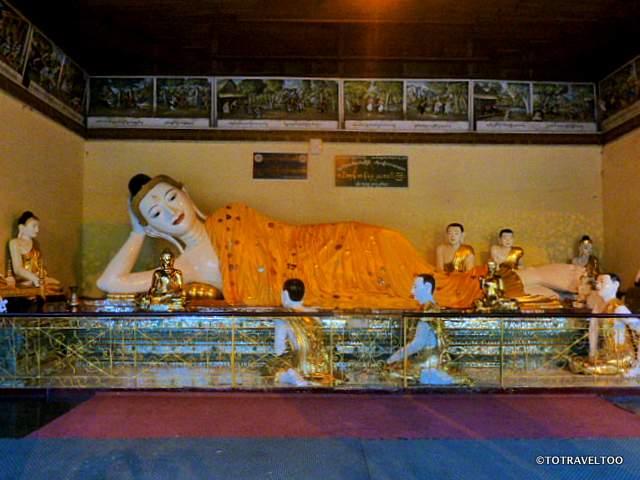 Reclining Buddha at Shwedagon Pagoda