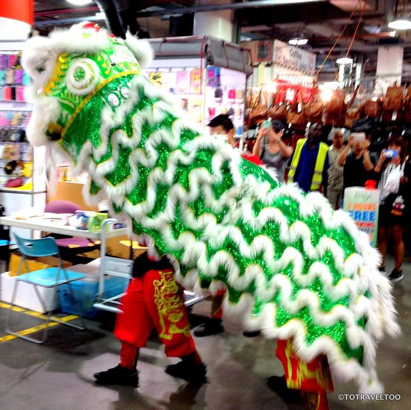 Year of the Monkey Lion Dance Paddys Market