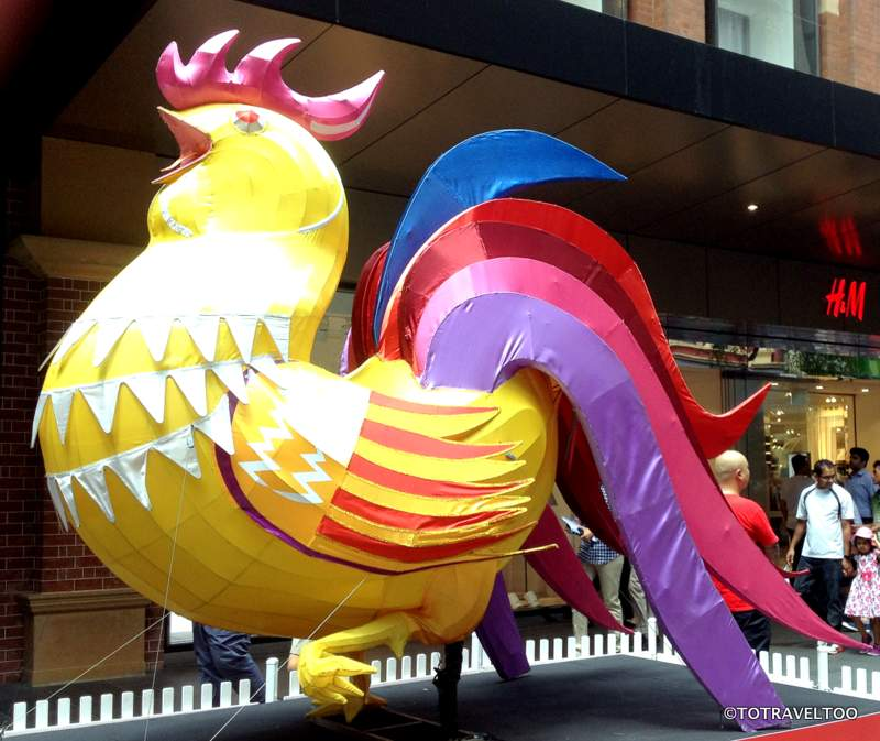 Year of the Monkey Chinese Zodiac Animal The Rooster at Pitt Street Mall