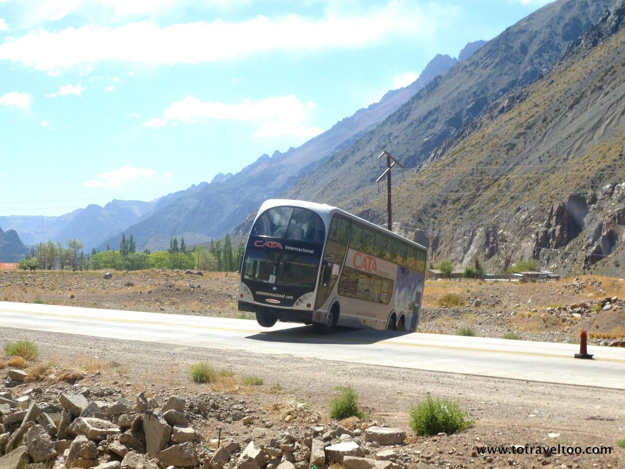 Its a dangerous road to Mendoza Argentina