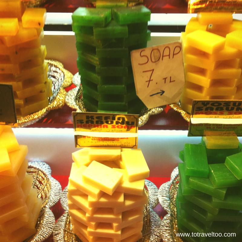 Fragrant soaps in Istanbul Spice Market