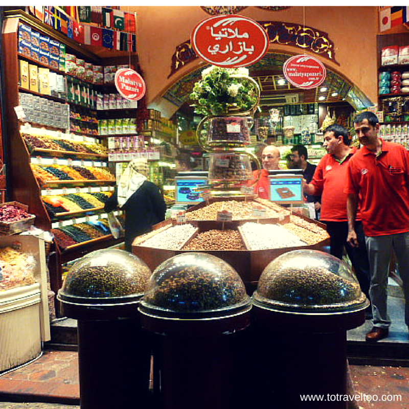Stores Inside the Spice Market of Istanbul
