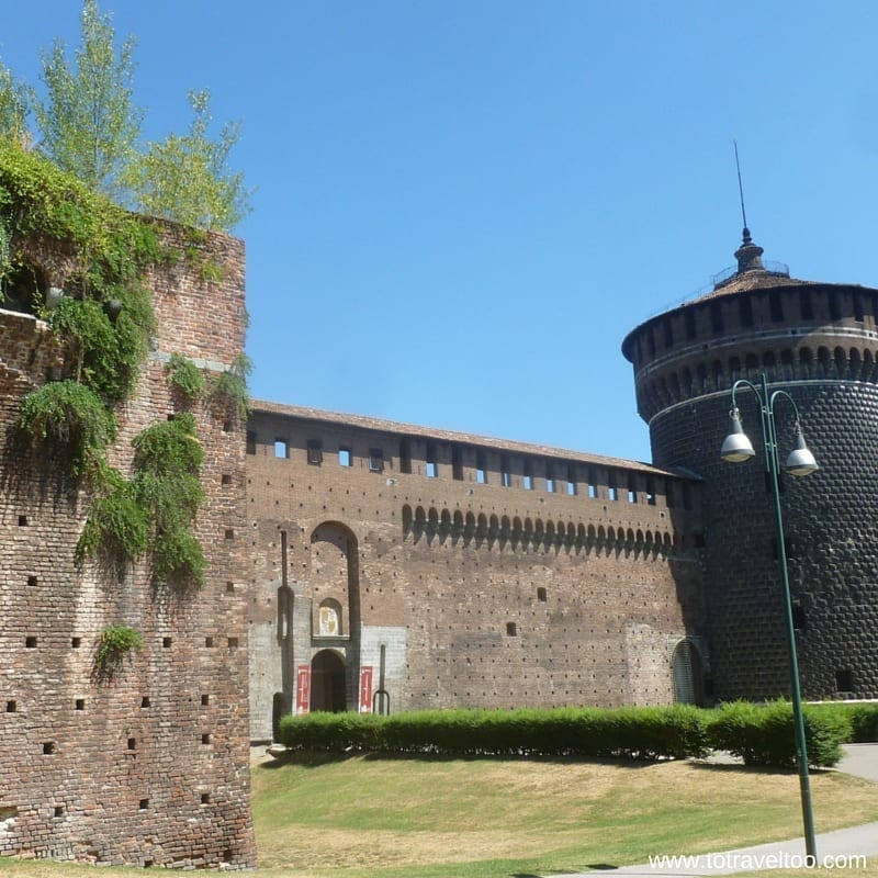 Entry to Sforza Castle Milan