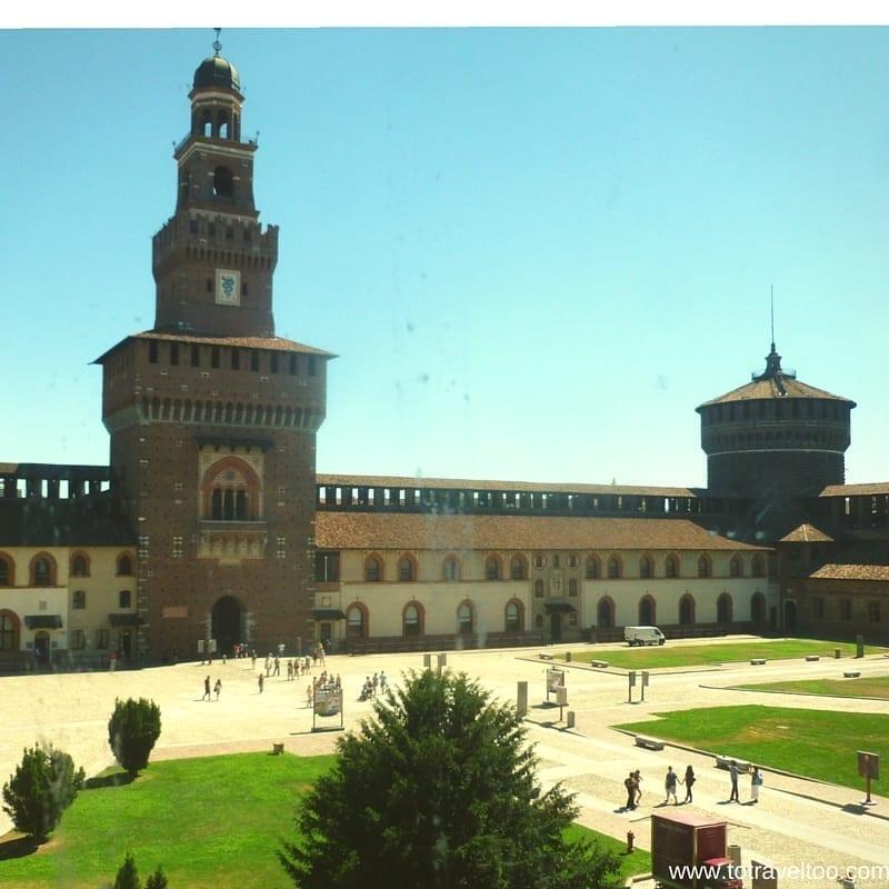 Milan visiting Sforza Castle