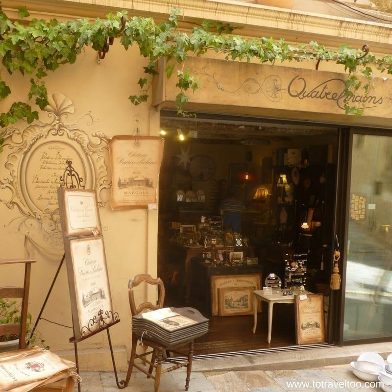 Window shopping Grasse near Nice